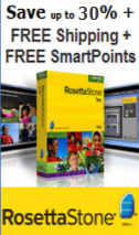 SAVE UP TO 30% + FREE SHIPPING + FREE SMARTPOINTS on Rosetta Stone