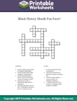 image relating to Black History Crossword Puzzle Printable referred to as African-American Historical past: Leaders Well known Those