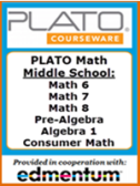 SAVE 75% on PLATO Math - Middle School
