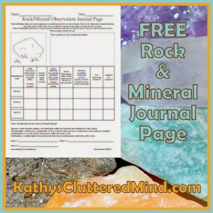 FREE rock study journal page!