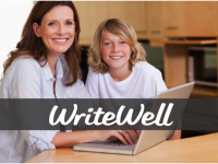 Mother and Son with WriteWell logo_ADs