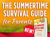 Picture of Rebecca Kochenderfer's book The Summertime Survival Guide for Parents