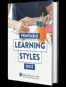 Homeschool Learning Styles Printable Quiz