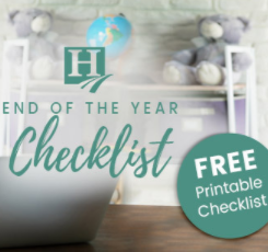 Homeschool End of the Year Checklist