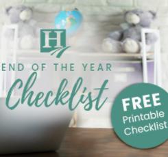 Homeschool End of the Year Checklist