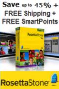 SAVE UP TO 45% + FREE SHIPPING + BONUS SMARTPOINTS on Rosetta Stone