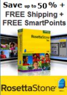 SAVE UP TO 50% + FREE SHIPPING + BONUS SMARTPOINTS on Rosetta Stone