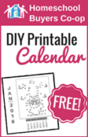 FREE! on DIY Desk Calendar