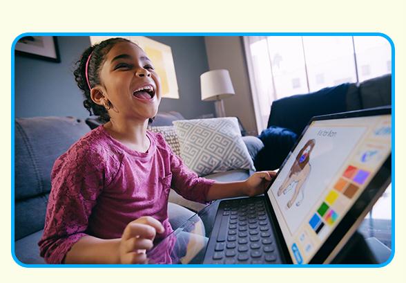 6-year-old Enjoying ABCmouse.com
