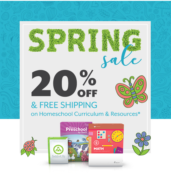 AOP Spring Sale - Get 20% off and free shipping in April