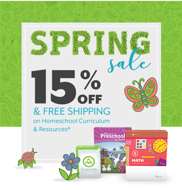 AOP Spring Sale - Get 15% off and free shipping in May