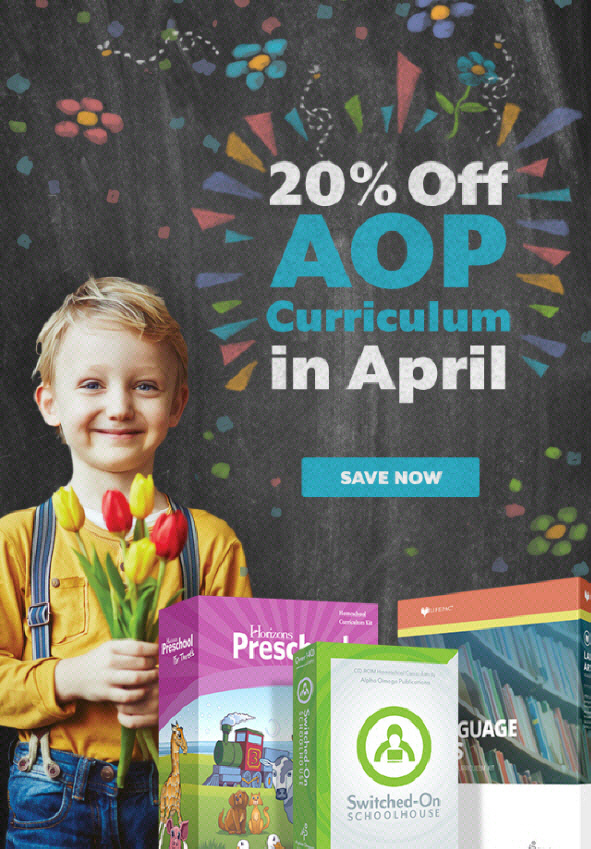 Save 20% on AOP Curriculum in April
