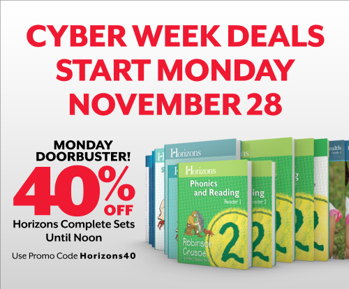 40% off Horizons Grade Sets | Monday, November 28 Only Until Noon