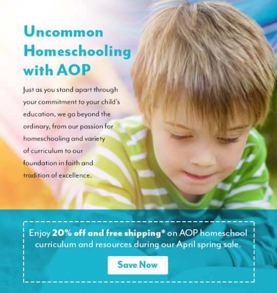 Enjoy 20% off and free shipping at AOP in April