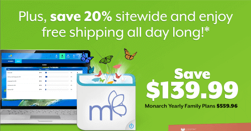 November 28 | Save $140 on a Monarch Yearly Family Plan