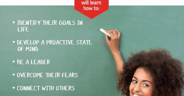 Identify their goals in life, develop a proactive state of mind, ...