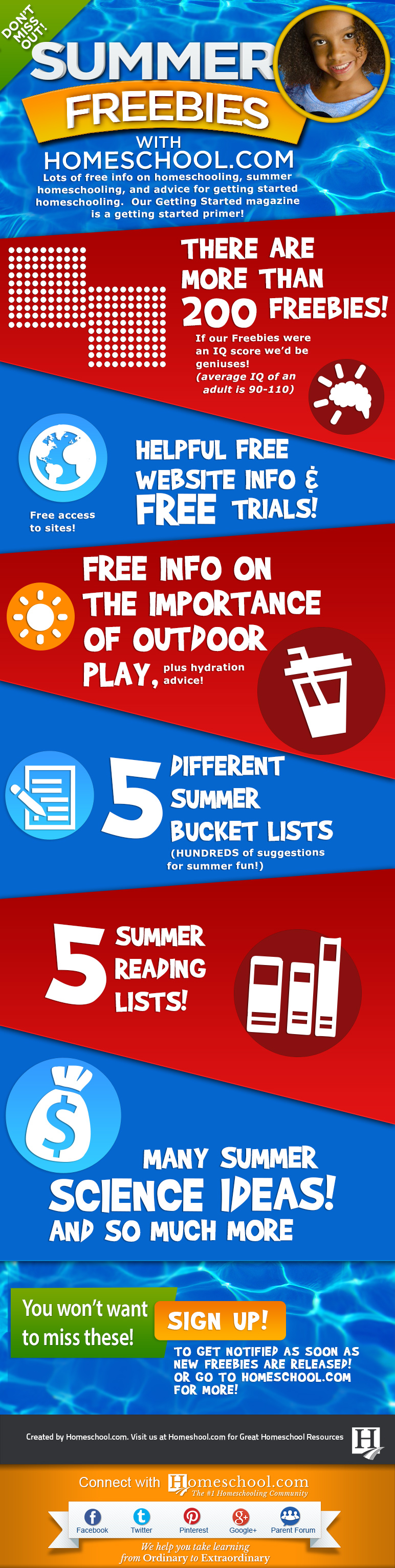 Summer Freebies Infographic
