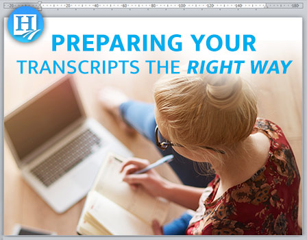 Preparing Your High School Transcripts The Right Way