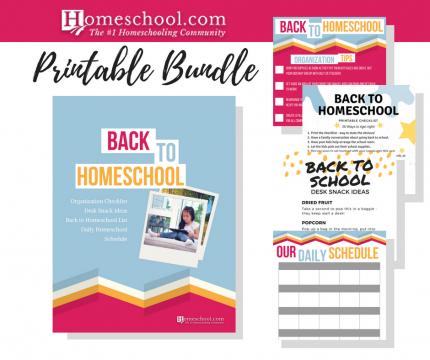 photo relating to Homeschool Schedule Printable named Again towards Homeschool Printable Deal