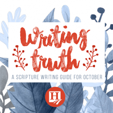 Writing Truth: Scripture Writing for October