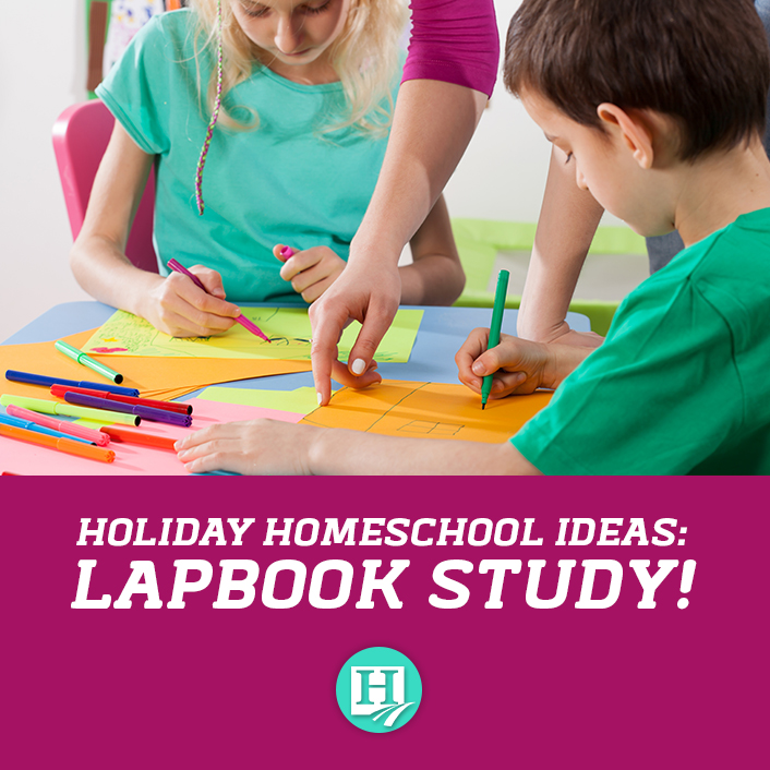 What's the best way to homeschool through the holidays without being overwhelmed? Lapbooks!