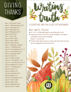 Scripture Writing for November
