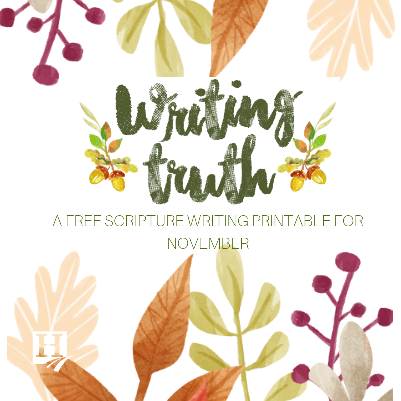 Writing Truth free printable for November