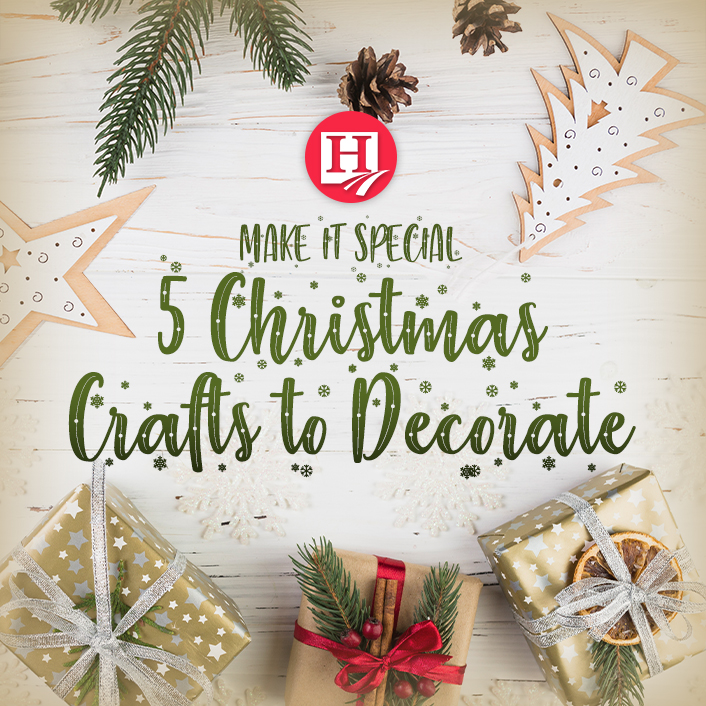 Make holiday decorating even more special with handmade decor!