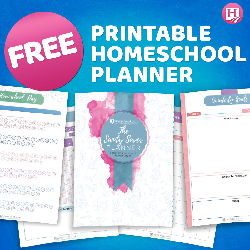 Free Sanity Saver Homeschool Planner