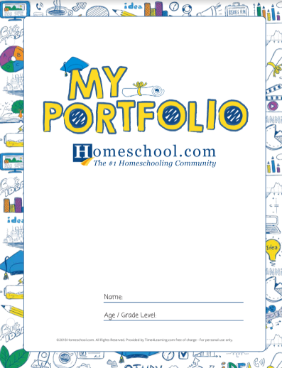 Homeschool Printable Portfolio Pack