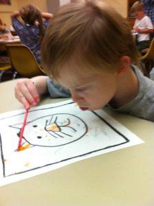 Josh painting