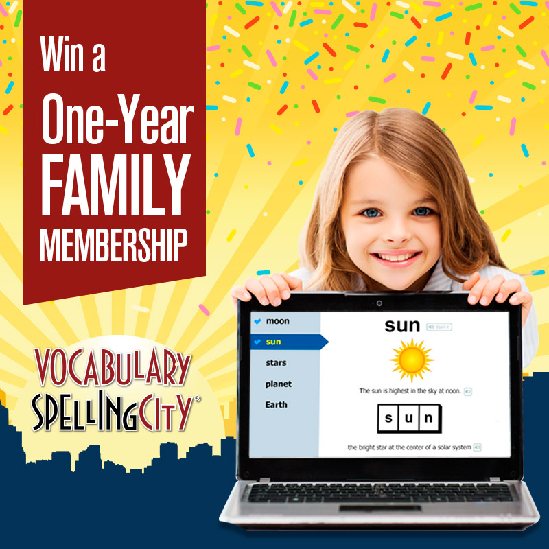 Vocabulary Spelling City Giveaway!