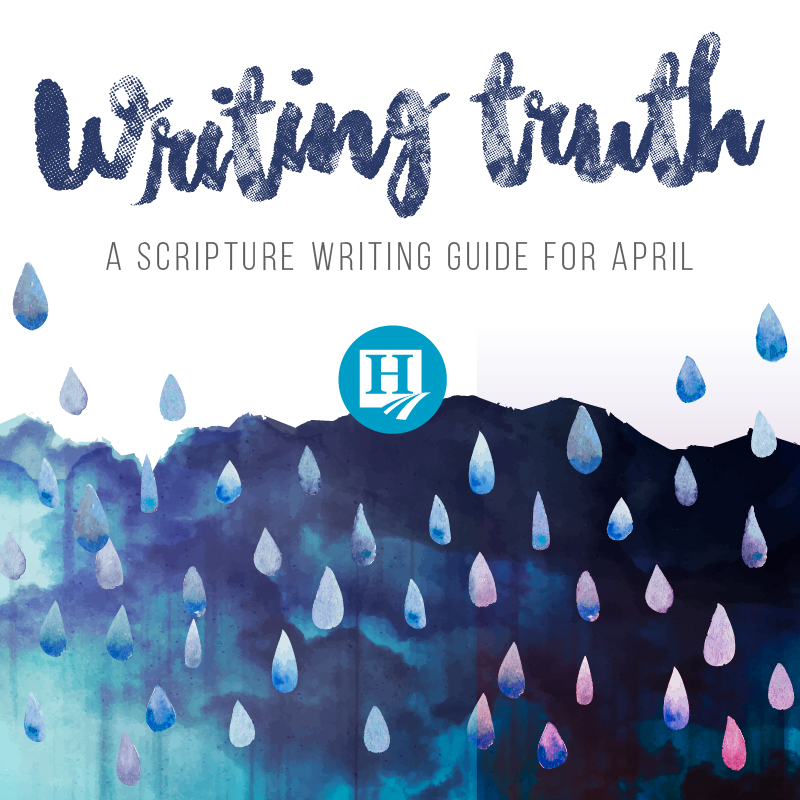 Scripture Writing for April