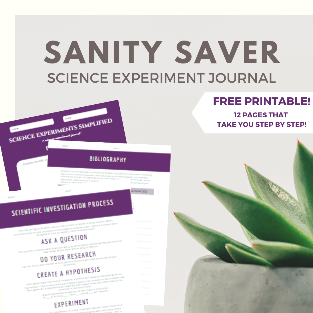 Printable Science Experiment Journal