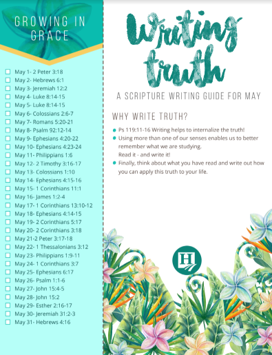 Scripture Writing for May