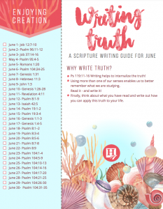 June Scripture Writing