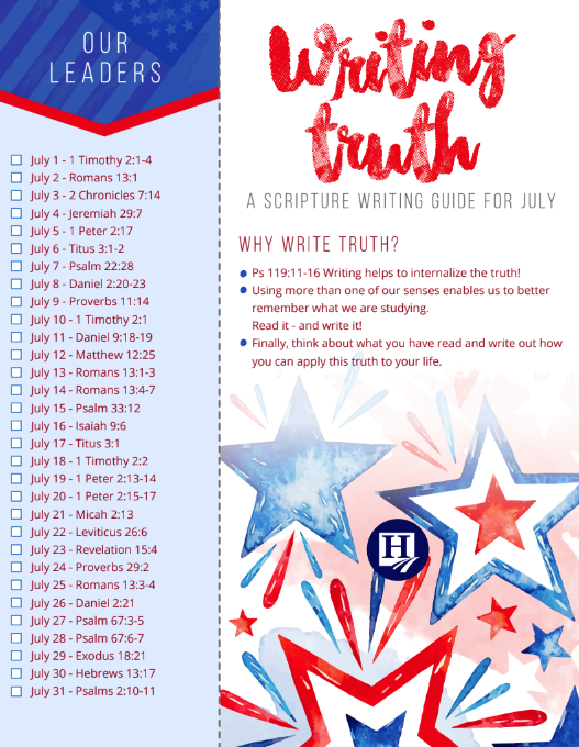 Writing Truth July