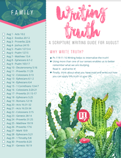 Writing Truth August