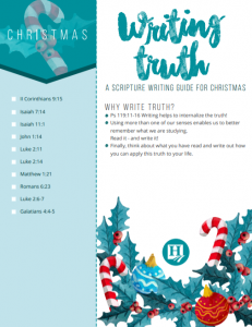 Christmas Copy Work Printable