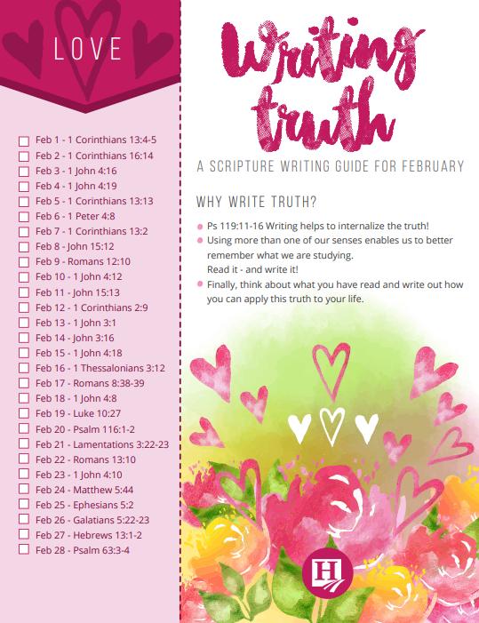 February Writing Truth