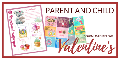 Valentine Cards Printable Pack