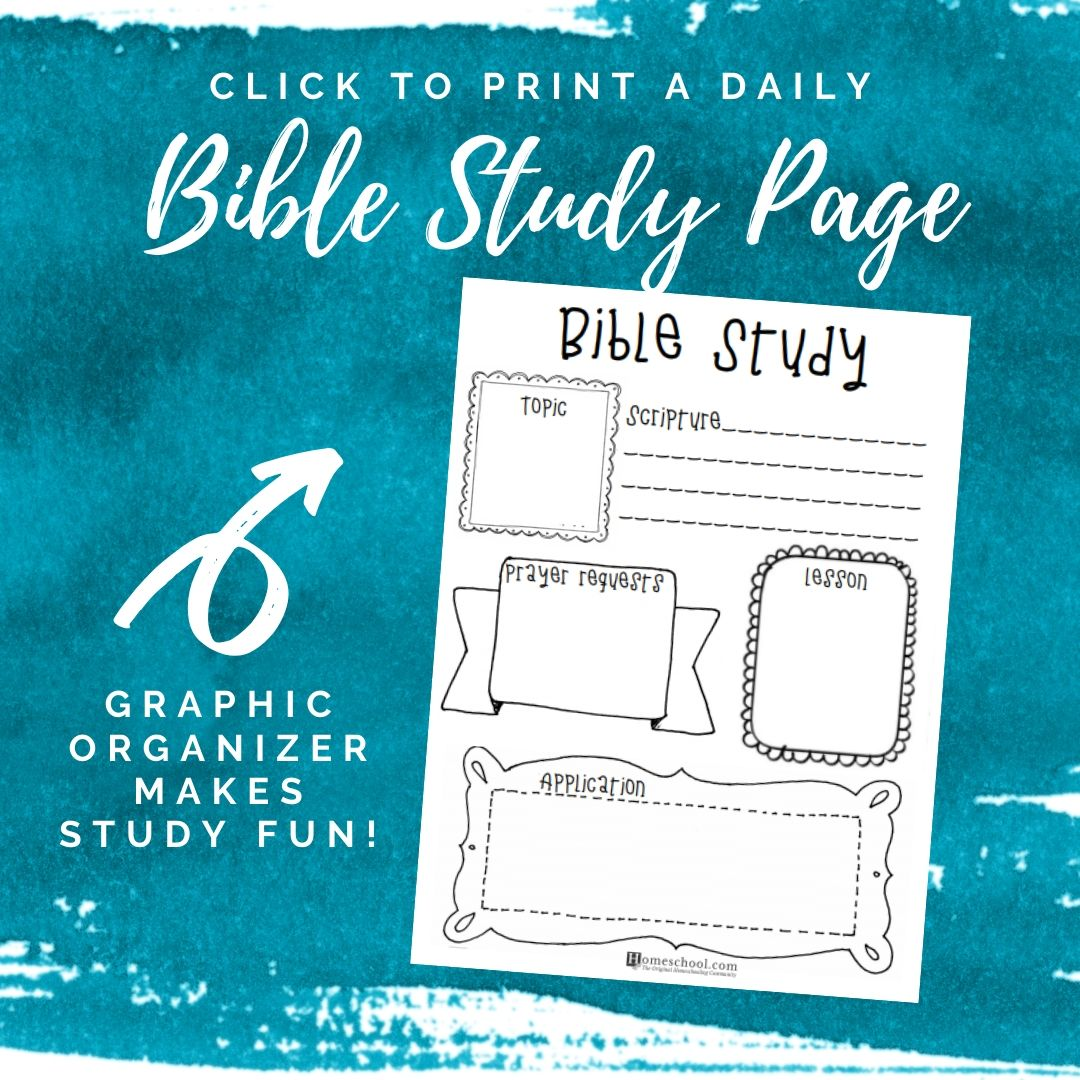 Bible Study Graphic Organizer for Kids