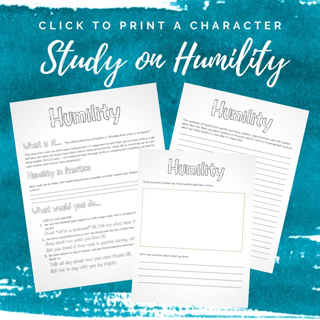 Character Training Kid Activities on Humility