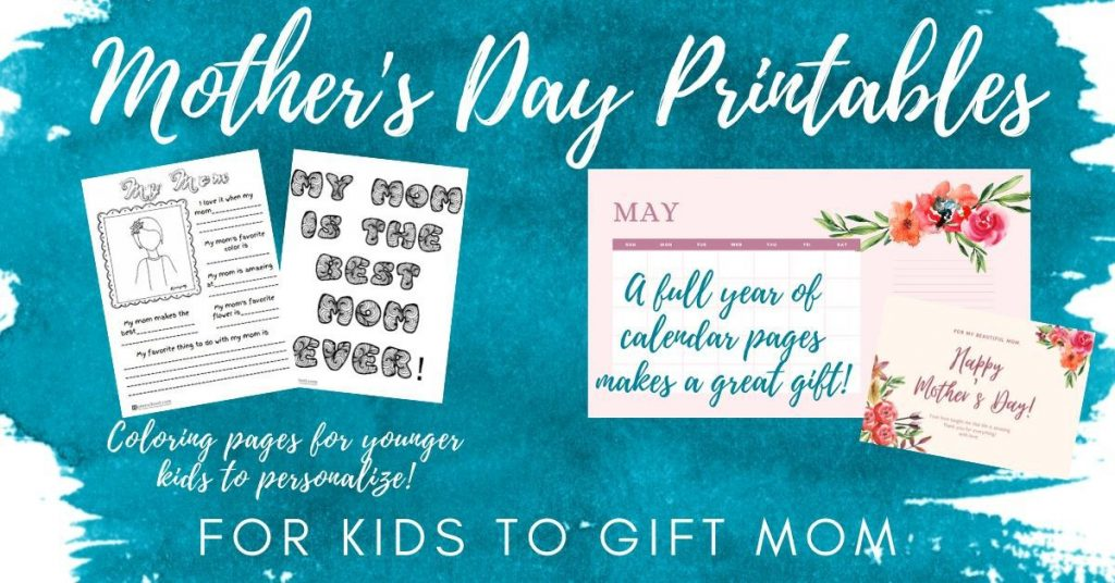 Mother's Day Ideas and Printables for Kids!