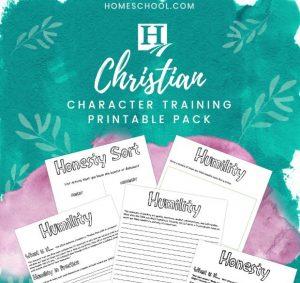Christian Character Training Printable Study