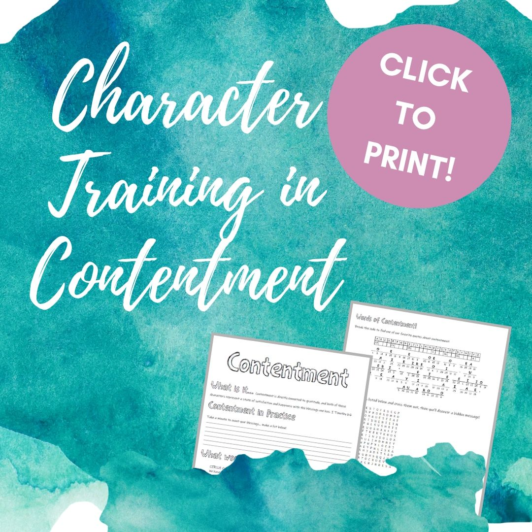 Activities for Kids Teaching Contentment