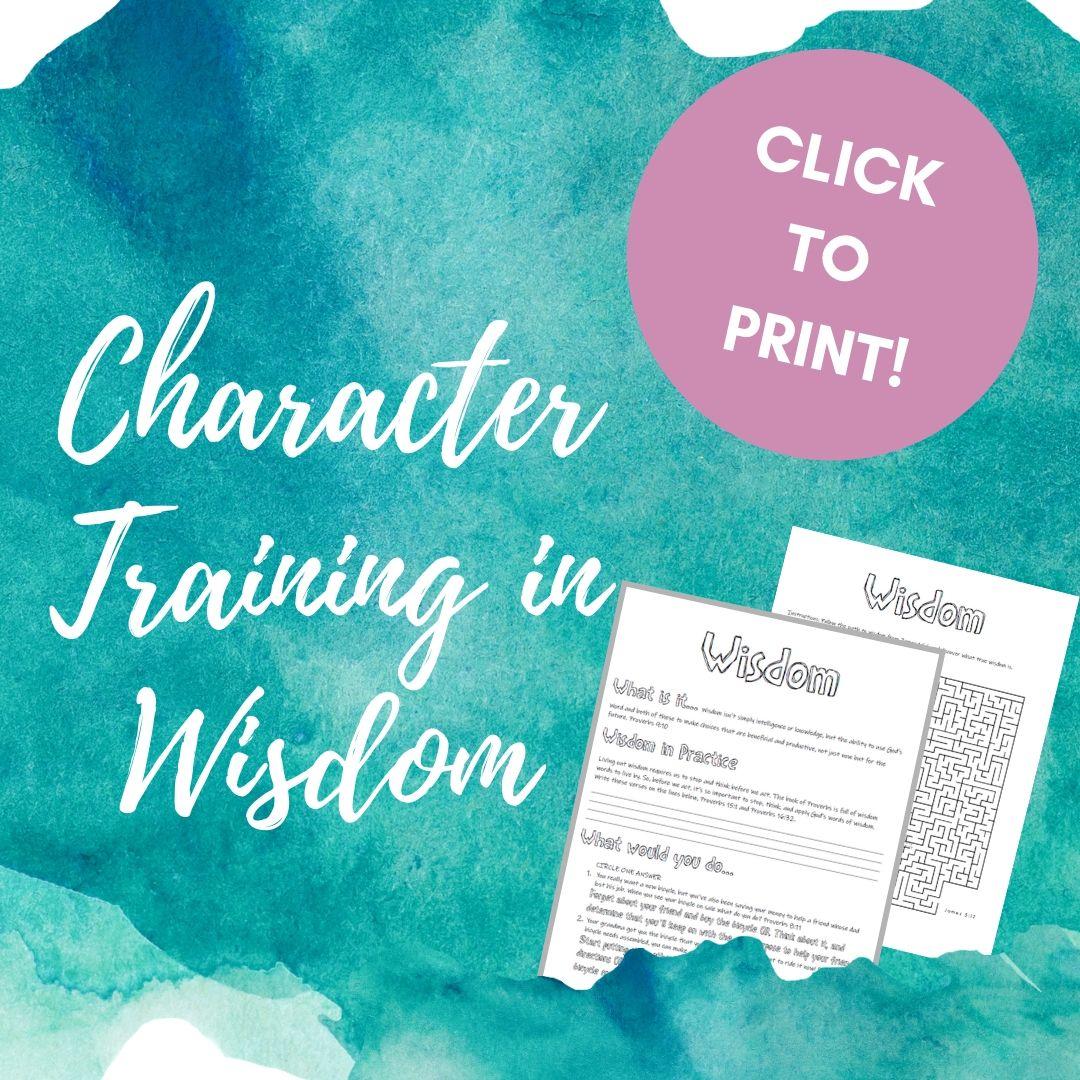 Activities for Kids Teaching Wisdom