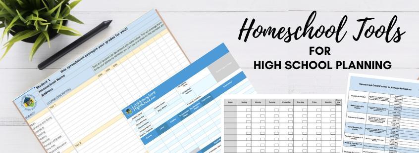 Homeschool High school Planning Tools