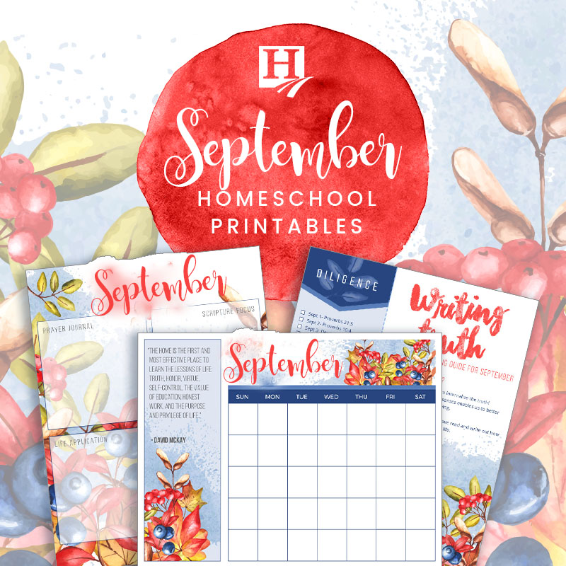 September Homeschool Printables
