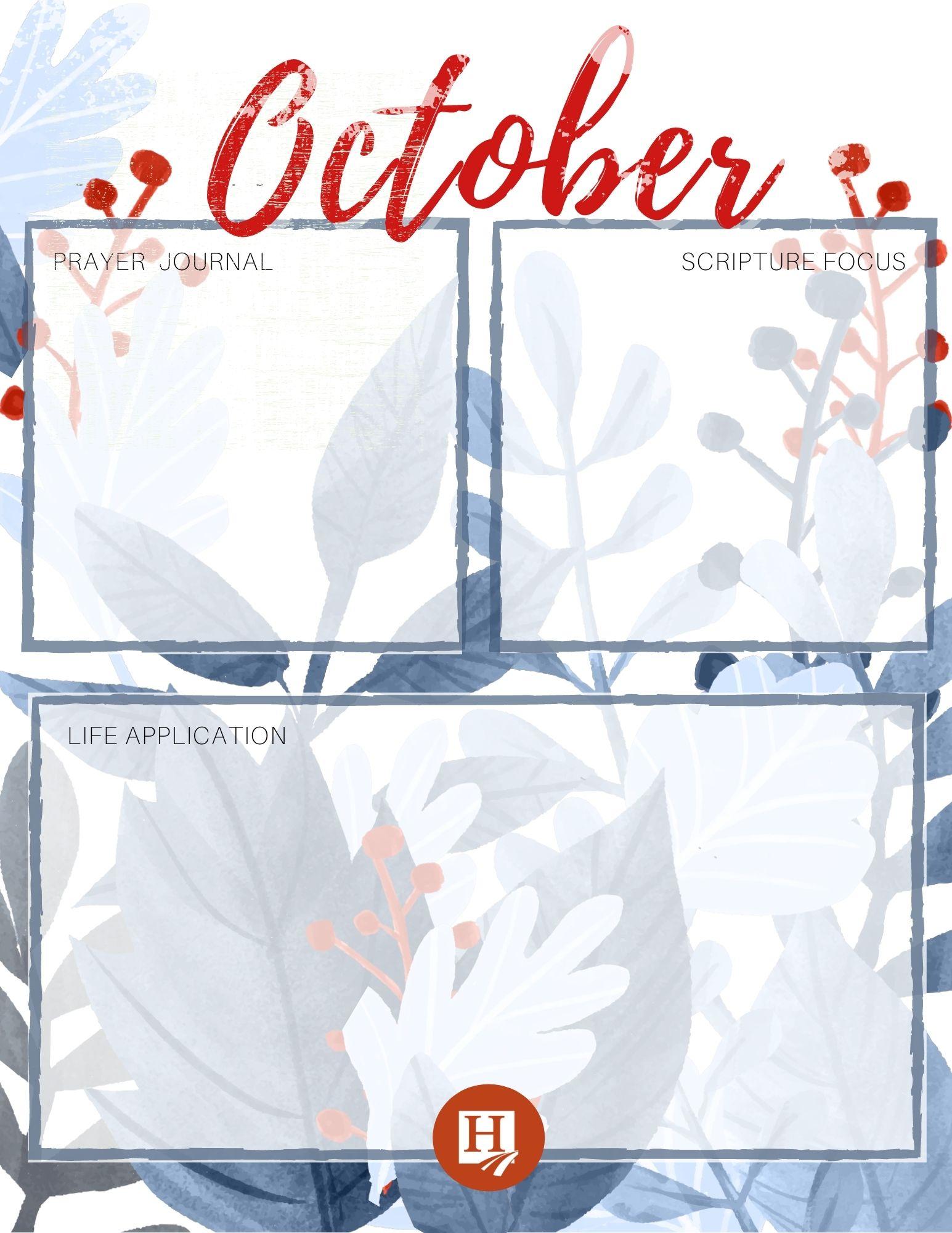October Homeschool Journal